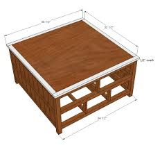 free puzzle coffee table plans