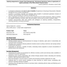 Sample Resume Of Logistics Supply Chain Manager New Logistics ...