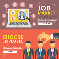 job market choose employee flat illustration set hand pick job market choose employee flat illustration set hand pick worker from group of people