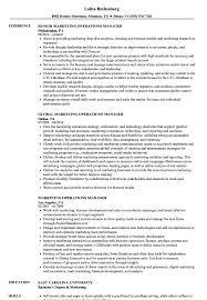 Marketing Operations Manager Resume Samples Velvet Jobs