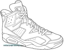 Michael Jordan Coloring Pages Air Shoe For 8 Dunking Cremzempme