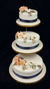 Elegant 3 Tier Roses Wedding Cake Celticcakescom