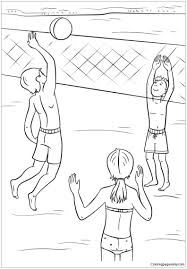 More 100 coloring pages from interesting coloring pages category. Play Volleyball On The Beach In The Summer Coloring Page Free Coloring Pages Online