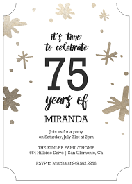 invitation for a party 75th birthday invitations 50 gorgeous 75th party invites