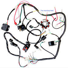 motorcycle engines parts for zongshen complete electrics wire harness wiring cdi stator 200 250 zongshen 2 hole