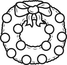 plain christmas wreath coloring page.  Christmas Simple Winter Coloring Pages Free Printable Wreath Page For Kids  Colouring   For Plain Christmas Wreath Coloring Page A