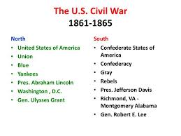 Jefferson Davis Vs Abraham Lincoln Chart Ppt The U S Civil War 1861 1865 Powerpoint Presentation