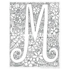 m coloring sheets m coloring sheets pages letter sheet instant digital page mandala coloring