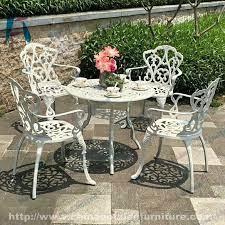 white cast aluminum patio furniture