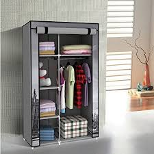 free standing clothes rack. Switch Innovation Storage Closet Portable Temporary Clothing Wardrobe Free-Standing Clothes Rack Non-Woven Free Standing