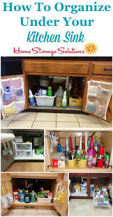 how to organize under your kitchen sink cabinet with lots of real life examples from
