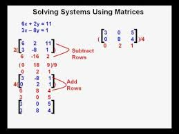 solving systems using matrices you