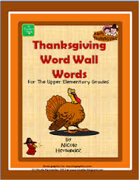 A Teachers Idea Over 50 Thanksgiving Words For Your Word
