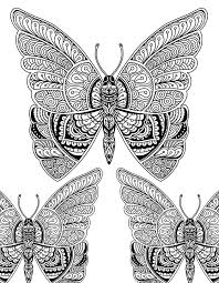 Art Doodle Beautiful Butterfly Doodle Art Adult Coloring Page