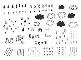 手書きの雨素材のイラスト2種 Nancysdesignイラスト部