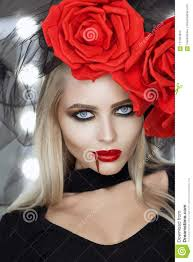 Gorgeous Vampire Female Looking At Camera