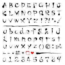 筆文字アルファベット フォント イラスト素材 2530371 フォト