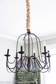 pottery barn armonk knockoff dining room chandelier