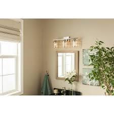 Allen And Roth Kenross Vanity Light Shop Allen Roth 3 Light Brushed Nickel Bathroom Vanity