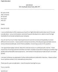 Cover Letter For Flight Attendant Job Sample Lezincdc Com