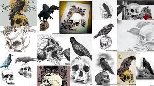 значение тату ворон на черепе клуб татуировки фото тату значения