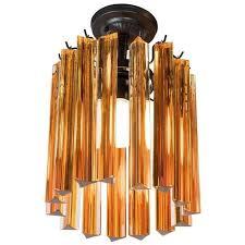 murano glass amber triedre prism chandelier