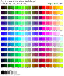 216 Color Chart