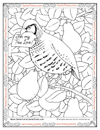 Small Picture in a Pear Tree Coloring Page
