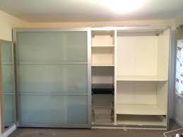 pax doors wardrobe sliding glass in home furniture ikea instructions