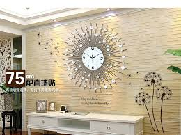 wall clocks large decorative large mirrored wall clock big mirror great aura big mirror with big