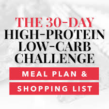 30 Day Healthy Eating Plan The 30 Day High Protein Low Carb Meal Plan With Shopping List