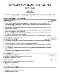 Restaurant Owner Resume Example Examples Of Resumes