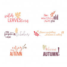 Autumn Quotes Fascinating Autumn Quotes Greetings Vector Premium Download