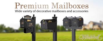 Residential mailboxes side view Locking Premium Decorative Mailboxes And Accessories Signature Streetscapes Curbside Mailboxes Post Mount Mailboxes Www