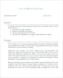 Social Media Proposal Template Social Media Management Proposal Template