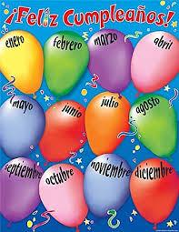 Happy Birthday Chart Decoration Teacher Created Resources Happy Birthday Spanish Chart Multi Color 7691