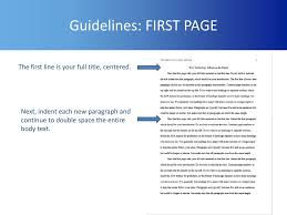 Apa General Format Formatting Your Apa Style Academic Paper Ppt