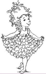 Small Picture Fancy Nancy Coloring Pages Fancy Nancy Curtseying coloring page