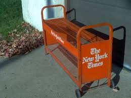 Newspaper rack 1 Cabinet New Your Times Rack Obnoxious Antiques Vintage New York Times Newspaper Rack Obnoxious Antiques