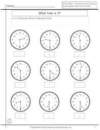 Telling Time To The Nearest 5 Minute Worksheets As Well Images About ...