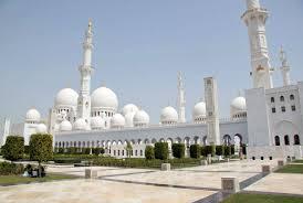 uae abu dhabi sheik zayed grand mosque exterior