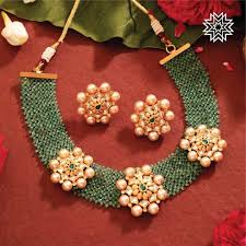 Crystal Beads Necklace Designs In Gold Ultimate 35 Gold Necklace Designs Images Of This Year