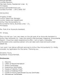 Sample Accounting Assistant Cover Letter Accounts Assistant Cover