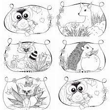 Printable Coloring Pages Woodland Animalsll