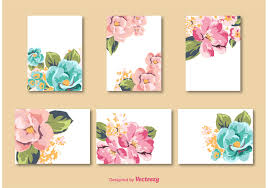 Free Card Templates Flower Card Vector Templates Download Free Vector Art Stock