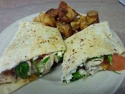 en and cheese wrap with home fries from the yankee diner in charlton massachusetts