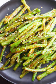 green bean recipe. Plain Bean These Garlic Roasted Green Beans Are The Perfect Side Dish Addition To Any  Table And Meal Inside Green Bean Recipe O