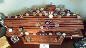 navy carrier challenge coin display