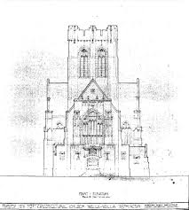 Church Blueprints Design A Forgotten Dream The Unrealized Gothic Structure Planned