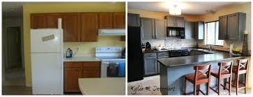 how to paint wood furniture and wood laminate cabinets before and after photos